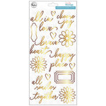 Pinkfresh Studio - Everyday Musings Collection - Puffy Stickers with Foil Accents