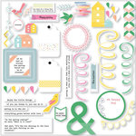 Pinkfresh Studio - Felicity Collection - Die Cut Cardstock Pieces