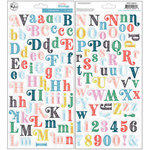 Pinkfresh Studio - Everyday Musings Collection - Puffy Stickers - Alpha