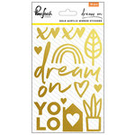 Pinkfresh Studio - Dream On Collection - Acrylic Mirror Stickers - Gold