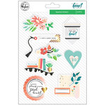 Pinkfresh Studio - Let Your Heart Decide Collection - Layered Stickers with Foil Accents
