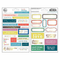 Pinkfresh Studio - Everyday Musings Collection - Cardstock Stickers with Foil Accents - Phrases