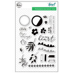 Pinkfresh Studio - Let Your Heart Decide Collection - Clear Acrylic Stamps
