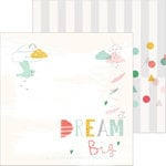 Pinkfresh Studio - Happy Things Collection - 12 x 12 Double Sided Paper - Dream Big