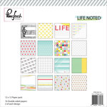 Pinkfresh Studio - Life Noted Collection - 12 x 12 Paper Pack