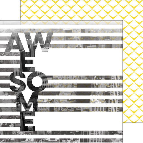 Pinkfresh Studio - Life Noted Collection - 12 x 12 Double Sided Paper - Awesome