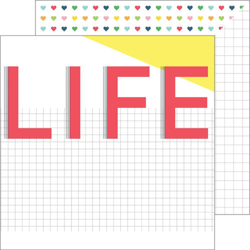 Pinkfresh Studio - Life Noted Collection - 12 x 12 Double Sided Paper - This life