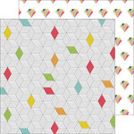 Pinkfresh Studio - Life Noted Collection - 12 x 12 Double Sided Paper - Diamond Pops