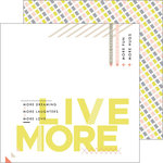 Pinkfresh Studio - Live More Collection - 12 x 12 Double Sided Paper - Goals