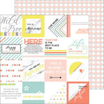 Pinkfresh Studio - Live More Collection - 12 x 12 Double Sided Paper - Rise