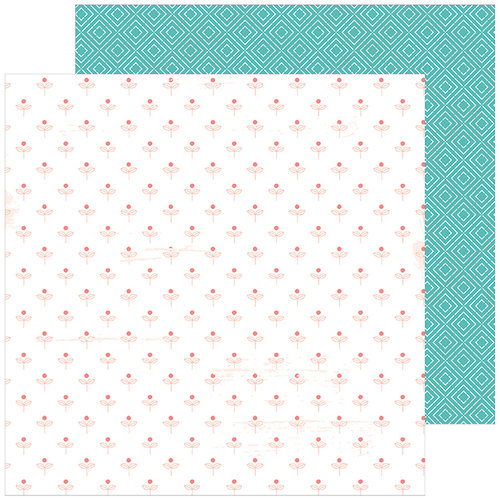 Pinkfresh Studio - Be You Collection - 12 x 12 Double Sided Paper - Happy