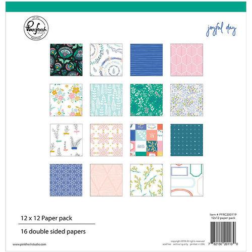 Pinkfresh Studio - Joyful Day Collection - 12 x 12 Paper Pack
