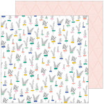 Pinkfresh Studio - Joyful Day Collection - 12 x 12 Double Sided Paper - Small Beginnings