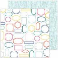 Pinkfresh Studio - Joyful Day Collection - 12 x 12 Double Sided Paper - Perfect Moment