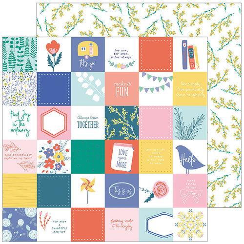 Pinkfresh Studio - Joyful Day Collection - 12 x 12 Double Sided Paper - Simple Pleasures