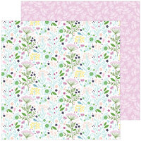 Pinkfresh Studio - Noteworthy Collection - 12 x 12 Double Sided Paper - Enchanted Blooms