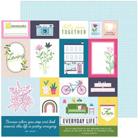 Pinkfresh Studio - Noteworthy Collection - 12 x 12 Double Sided Paper - Right Now