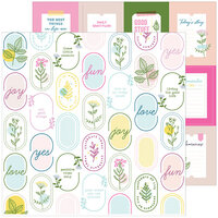 Pinkfresh Studio - Noteworthy Collection - 12 x 12 Double Sided Paper - Be Curious