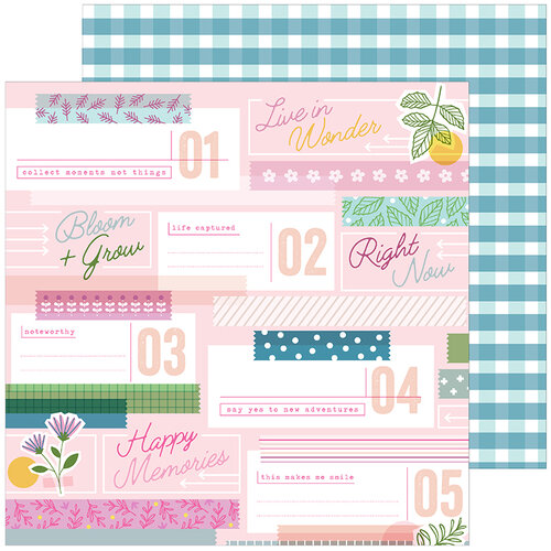 Pinkfresh Studio - Noteworthy Collection - 12 x 12 Double Sided Paper - Lovely Moments