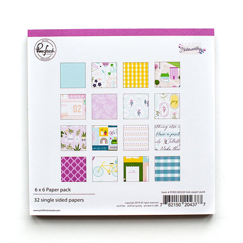 Pinkfresh Studio - Noteworthy Collection - 6 x 6 Collection Paper Pack
