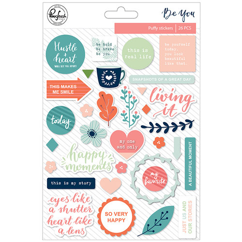 Pinkfresh Studio - Be You Collection - Puffy Stickers