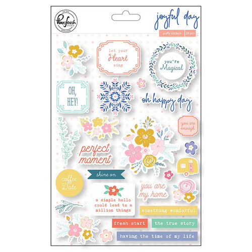 Pinkfresh Studio - Joyful Day Collection - Puffy Stickers