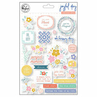 Pinkfresh Studio - Joyful Day Collection - Puffy Stickers