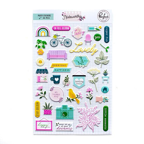 Pinkfresh Studio - Noteworthy Collection - Puffy Stickers
