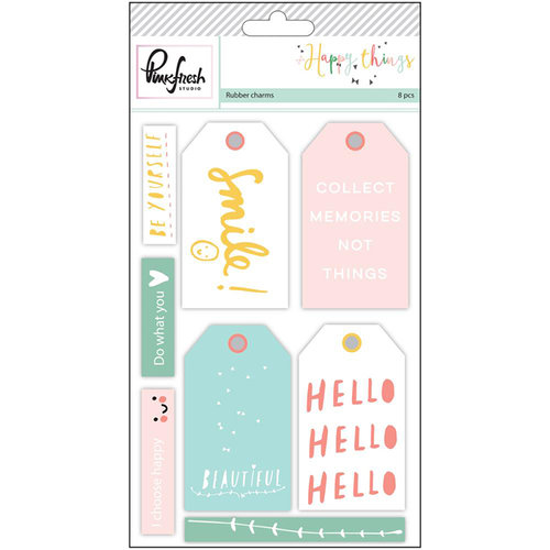 Pinkfresh Studio - Happy Things Collection - Rubber Charms