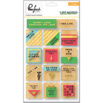 Pinkfresh Studio - Life Noted Collection - Wood Stickers with Foil Accents