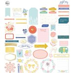 Pinkfresh Studio - Joyful Day Collection - Ephemera Pack with Foil Accents
