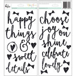 Pinkfresh Studio - Happy Things Collection - Glitter Foam Stickers