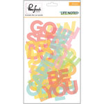 Pinkfresh Studio - Life Noted Collection - Die Cut Acetate Pieces - Words