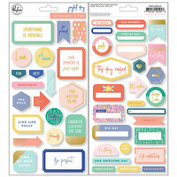 Pinkfresh Studio - Joyful Day Collection - Cardstock Stickers with Foil Accents