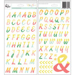 Pinkfresh Studio - Happy Things Collection - Puffy Block Alphabet Stickers
