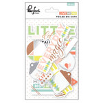 Pinkfresh Studio - Live More Collection - Die Cut Cardstock Pieces with Foil Accents