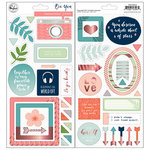Pinkfresh Studio - Be You Collection - Chipboard Stickers