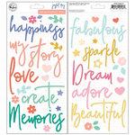 Pinkfresh Studio - Joyful Day Collection - Puffy Stickers - Phrases