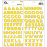 Pinkfresh Studio - Life Noted Collection - Puffy Stickers - Alphabet