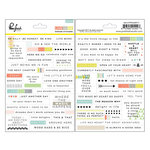 Pinkfresh Studio - Live More Collection - Cardstock Stickers - Words and Phrases