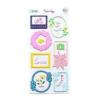 Pinkfresh Studio - Noteworthy Collection - Stickers - Puffy Frames