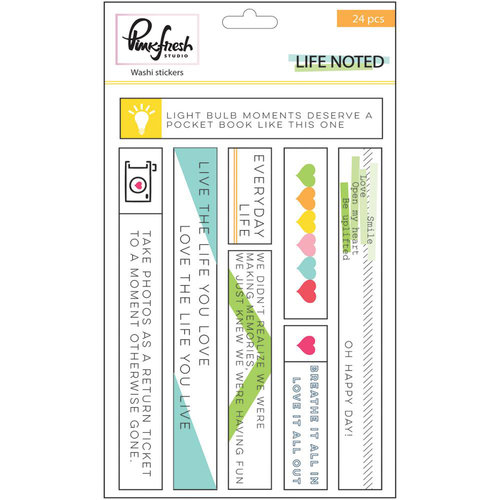 Pinkfresh Studio - Life Noted Collection - Washi Stickers