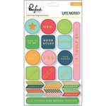 Pinkfresh Studio - Life Noted Collection - Chipboard Stickers with Foil Accents