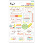 Pinkfresh Studio - Live More Collection - Chipboard Stickers with Foil Accents