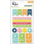 Pinkfresh Studio - Life Noted Collection - Rubber Stickers - Charms