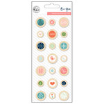 Pinkfresh Studio - Be You Collection - Wood Epoxy Buttons
