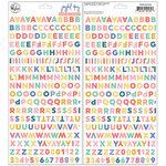 Pinkfresh Studio - Joyful Day Collection - Puffy Stickers - Mini - Alpha