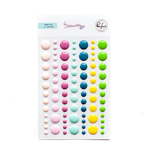 Pinkfresh Studio - Noteworthy Collection - Self Adhesive Enamel Dots