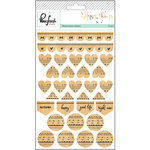 Pinkfresh Studio - Happy Things Collection - Wood Veneer Stickers