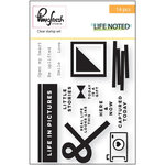 Pinkfresh Studio - Life Noted Collection - Clear Photopolymer Stamp Set
